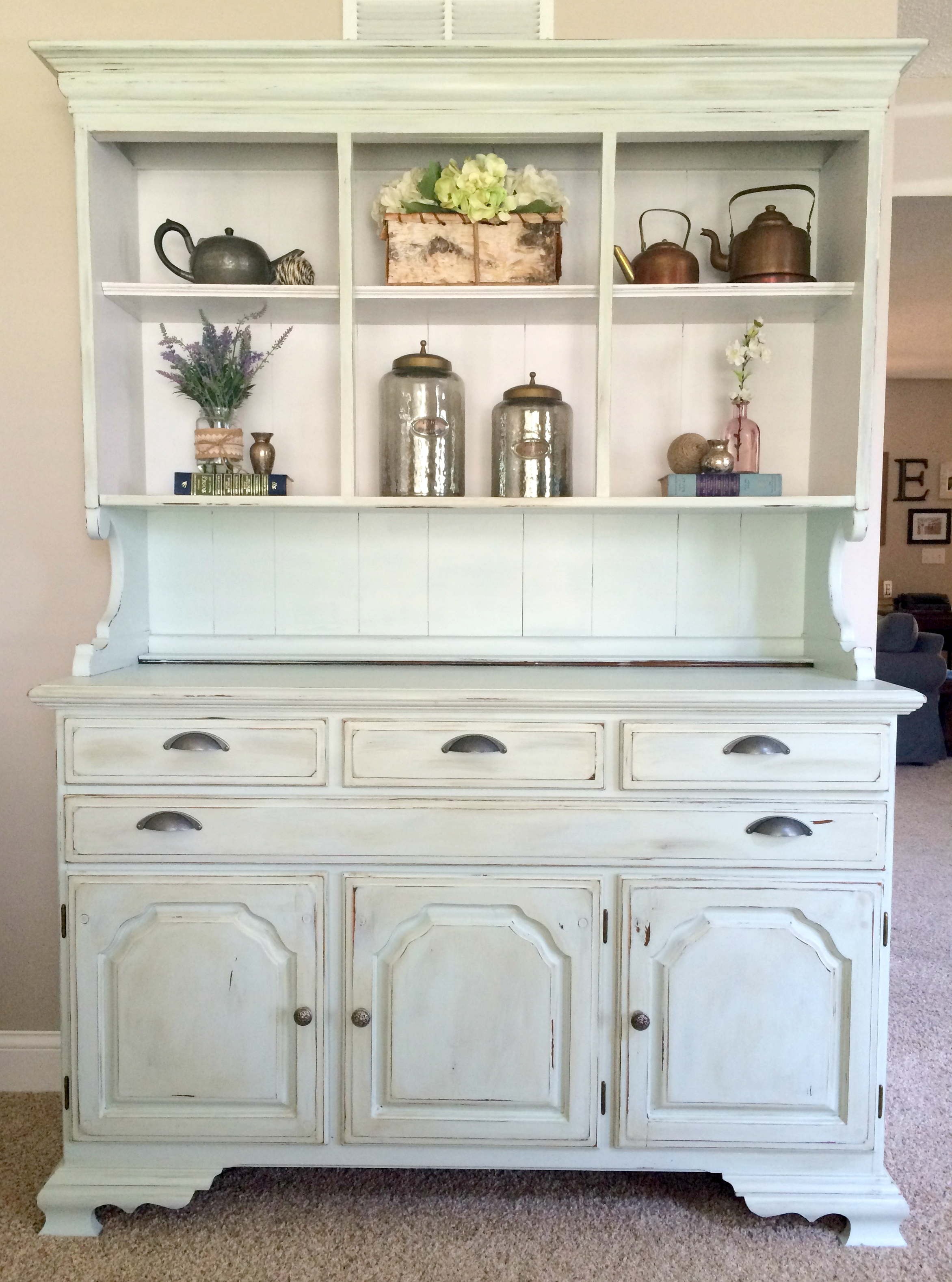. How To Paint And Distress A Wood Hutch   Sobremesa Stories